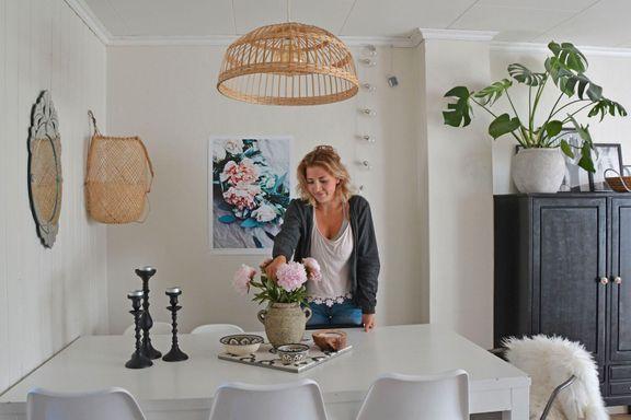 – Man kan skape et koselig hjem selv om man leier og uten å kjøpe så mye nytt