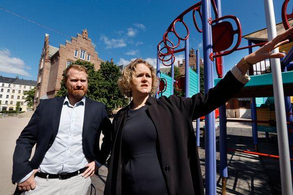 – Plassen utenfor skolen er blitt den nye Plata i Oslo