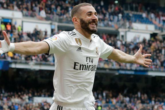 Benzema scoret tre mot Athletic Bilbao