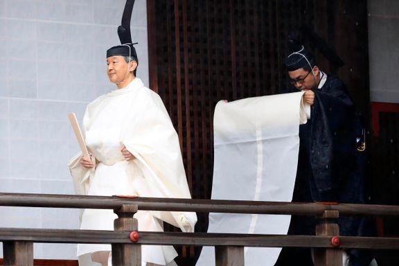 Kronprins Haakon til stede da Naruhito ble kronet til Japans keiser