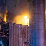 Brann utløst av regn på sementfabrikk i Brevik i Telemark