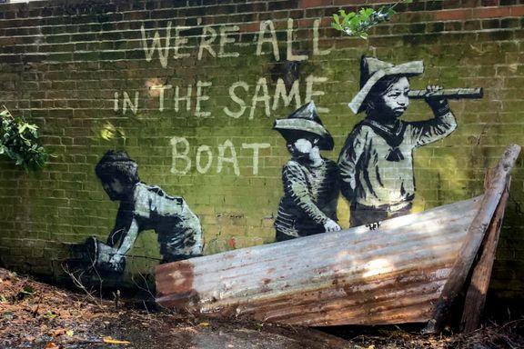 Nytt kunstverk fra verdenskjent, men anonym gatekunstner