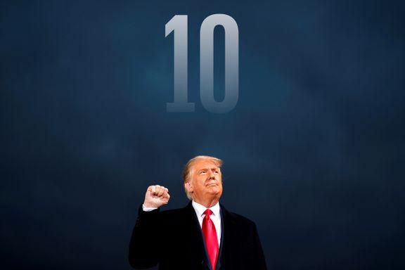 Hvordan oppsummere fire år med Trump? Her er ti øyeblikk verdt å huske.