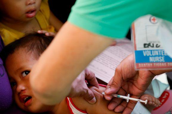 Ny UNICEF-rapport varsler om foruroligende økning av meslinger