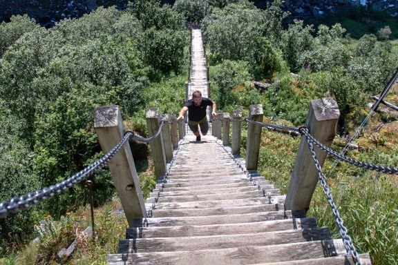 Nå er den populære trappen stengt for godt