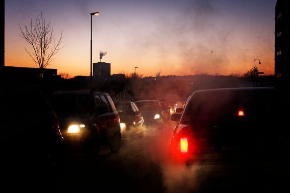 Helsefarlig luft ti steder i Norge