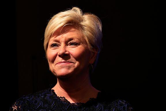 Siv Jensen går av som partileder i Frp. Anbefaler Sylvi Listhaug som erstatter.