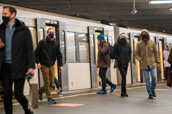 Flere linjer og stasjoner stenger: Slik reiser du med T-banen i påsken