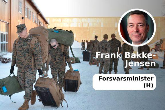 Amerikanske styrker vil fortsatt øve i Norge