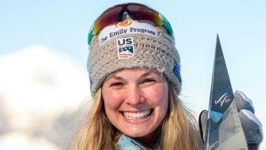 Jessica Diggins vant Tour de Ski. Nå hylles hun av de norske langrennsjentene.