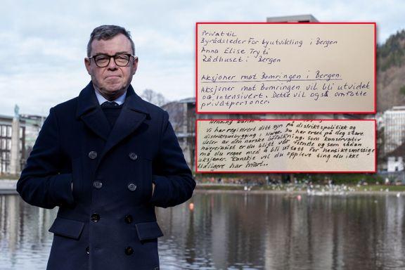 Høyre-politiker tror han og Tryti har fått trusselbrev fra samme person