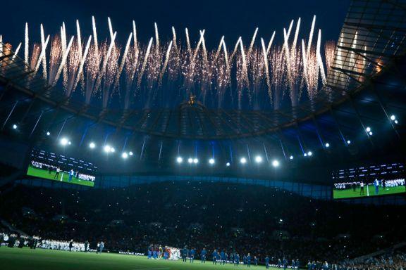 Tottenham feiret sitt nye stadion med fyrverkeri og tre poeng