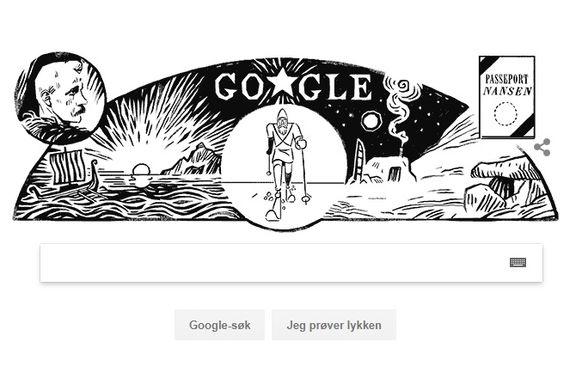 Fridtjof Nansen pryder verdens mest besøkte nettsted i dag