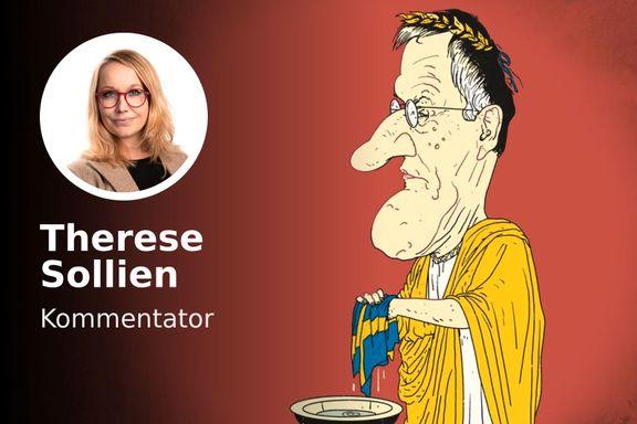 Tegnell tar ingen selvkritikk. Statsminister Löfven blir sittende med ansvaret.