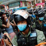Flere hundre personer pågrepet under demonstrasjon i Hongkong
