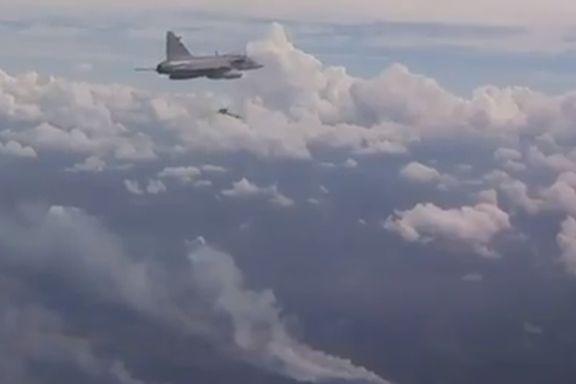 Brukte bombe fra jagerfly for å stoppe skogbrann i Sverige