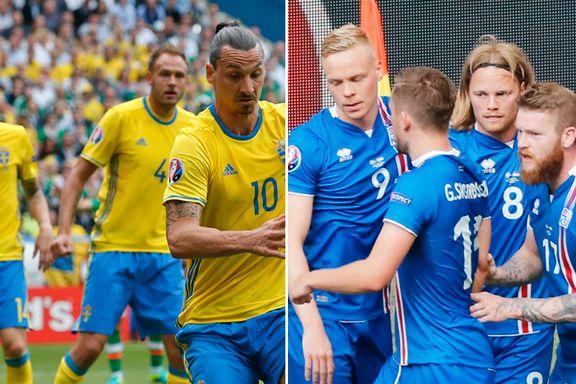 Slik går Sverige og Island videre i EM