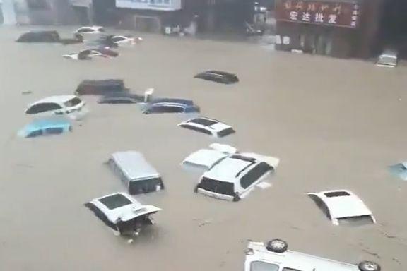 Kinesisk by fikk åtte måneders nedbør på én dag