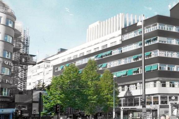 Her skulle det bli åpen takterrasse og 200 nye arbeidsplasser. Nå stanses planene.