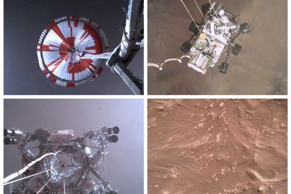 Nasa publiserer første video av robotlanding på Mars