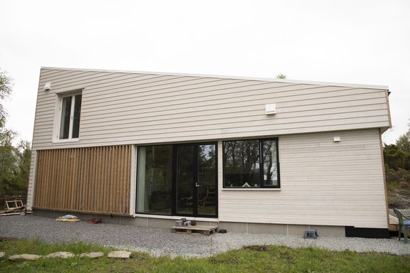 Fikk nytt liv i minihus: Fra 300 kvm leilighet til 66 kvm hus.