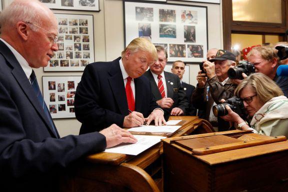 Trump har møtt storm og potensiell atomkrig. Det har gitt presidenten gode skussmål.