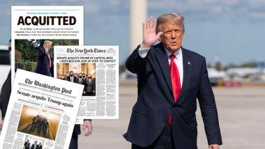 Slik reagerte USA på frifinnelsen av Trump: «Ryktet ødelagt for alltid»
