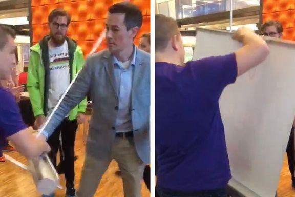 Her griper læreren inn for å stanse Unge Venstre-kampanjen som kunnskapsministeren har godkjent