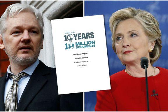 Wikileaks-Assange hevder han vil publisere nye avsløringer hver uke frem til valget i USA