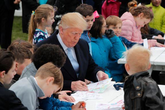 Trump inviterte til påskemoro: – Er dere klare, unger?
