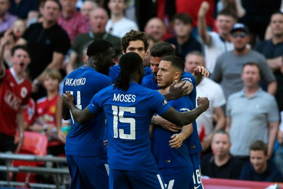 Hazard ble helten i FA-cupfinalen - sørget for en sesong uten trofé for Mourinho