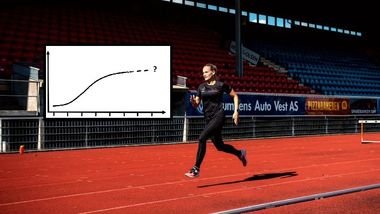 Denne grafen gir håp til mosjonistene. Slik fikk Monica (38) stor fremgang i treningen.
