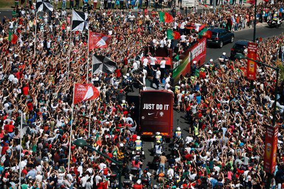 Portugal hyllet av over 100.000 etter EM-triumfen