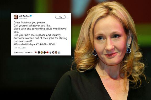 «Ondt.» «Skuffende.» «Avskyelig.» Kok i sosiale medier etter Harry Potter-forfatterens tweet.