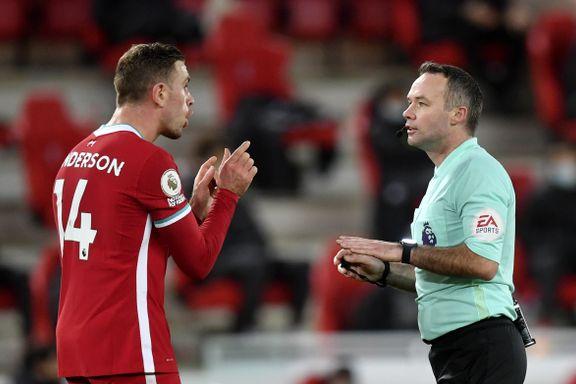 Henderson mener Liverpool ble snytt: – Veldig merkelig