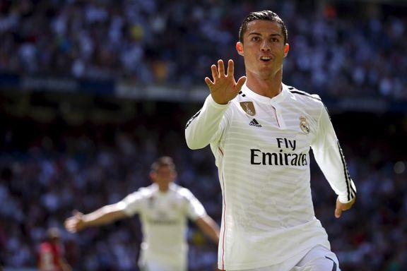 Ronaldo scoret fem ganger i åttemålsseier