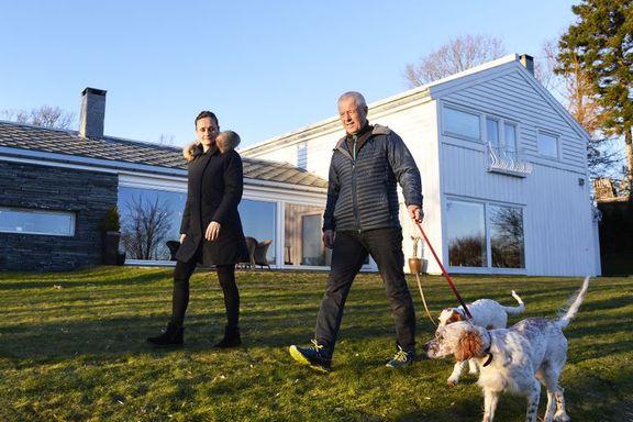 Dagny og Erik går på jobb i sitt eget hjem: – Jeg pendlet i mange år, men det ble slitsomt i lengden.