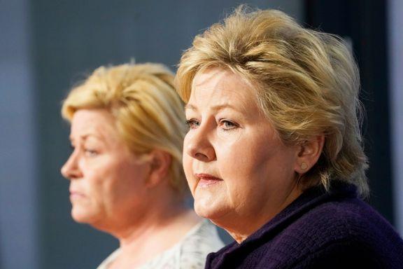 – Det finnes ikke noen snikislamisering, sier Erna Solberg. Jensens svar: – Det er forskjell på Høyre og Frp
