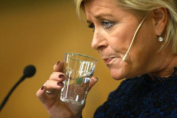Opposisjonspolitiker Siv Jensen regnet annerledes enn finansminister Siv Jensen