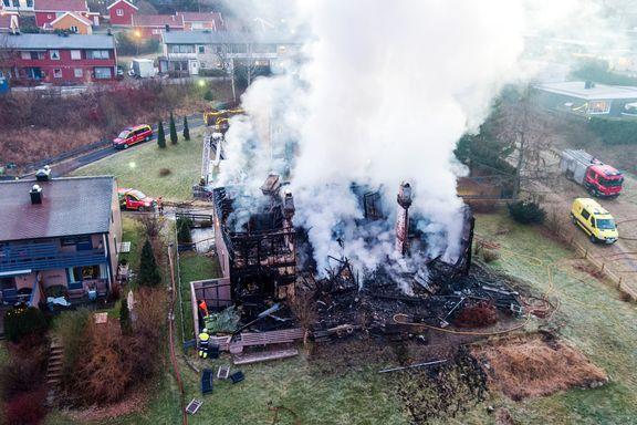 Rekkehus overtent på få minutter - fire familier mistet alt