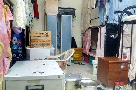 Dette bildet ble tatt da Amnesty besøkte en arbeidsleir knyttet til fotball-VM i Qatar