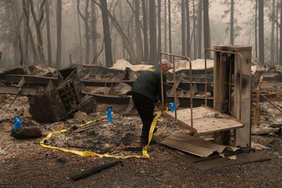71 døde og over 1000 savnet etter skogbrannen i California: – Noen vil kanskje aldri bli funnet