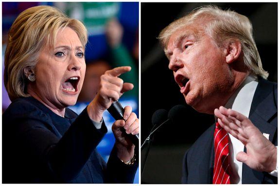 Stemmer på Clinton fordi de misliker Trump - og omvendt