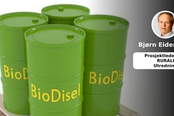 Biodiesel er en nødvendig start for å få ned klimautslippene