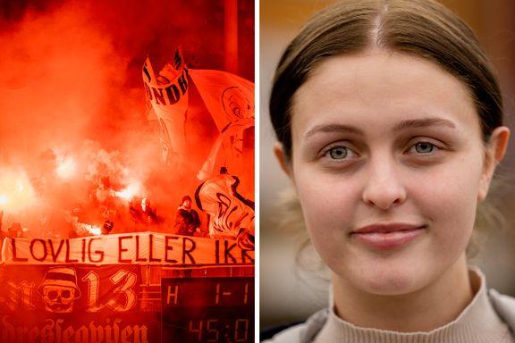 Andrea (19) fikk brannsår etter ulovlig bluss på Lerkendal: - Det var ekkelt