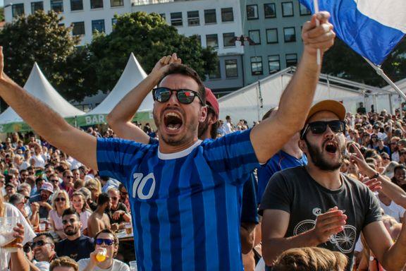 Fransk jubel og kroatisk fortvilelse. Se bildene fra fotballfesten i Bergen.