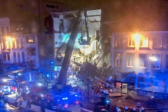 Flere skadet i huseksplosjon i Antwerpen