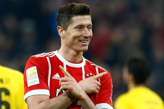 Lewandowski med hattrick da Bayern maltrakterte rivalen