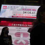 Kraftig børsfall i Hongkong