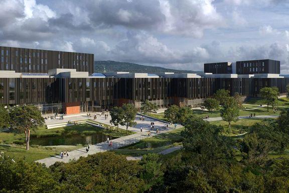 Ny pris for landets største universitetsbygg: Foreslår en totalpris på nesten 12 milliarder kroner.